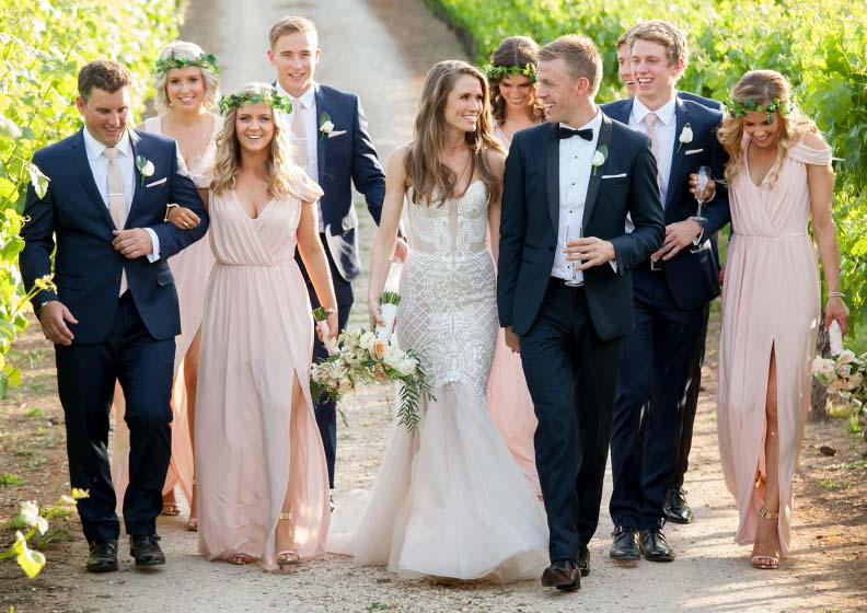 Let's see Who's who in the bridal party…